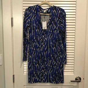 Diane von Furstenberg Reina Long Sleeve Dress NWT